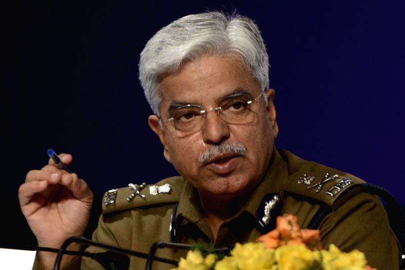 Delhi Police Commissioner BS Bassi addresses a press conference in New Delhi on Jan 2, 2015. According to Delhi Police annual report data an increase of 99.22 percent was recorded last ...
