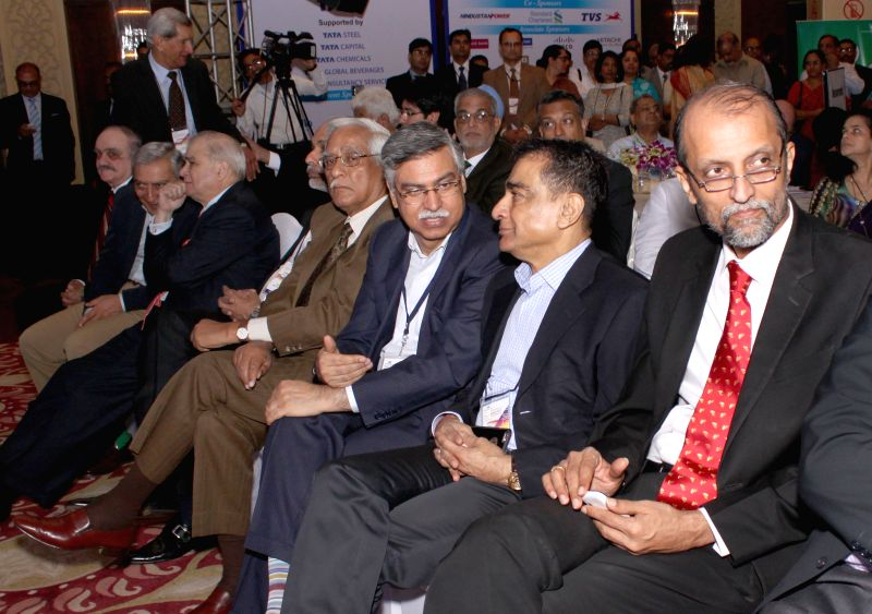 New Delhi:Delhi Police Commissioner BS Bassi and others at CII's Annual Session -` Building India : A Shared Responsibility` in New Delhi, on April 6, 2015.