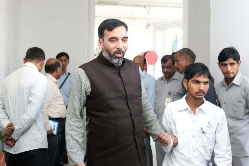 Delhi Transport Minister Gopal Rai arrives at the Delhi assembly to attend the budget session of the assembly in New Delhi, on March 24, 2015. - Gopal Rai
