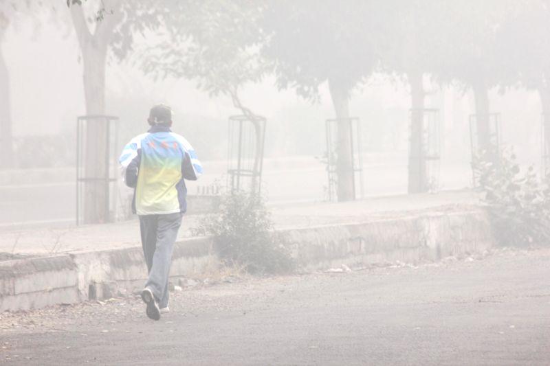 Dense fog covers New Delhi on Dec 28, 2014.