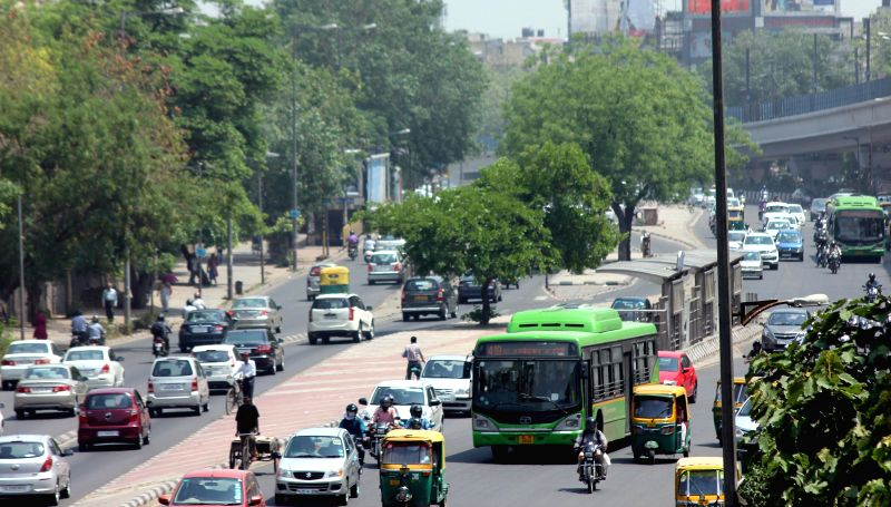 DTC buses back on Delhi roads after a day-long strike called to protest against the killing of a driver by a biker in an incident of road rage, in New Delhi, on May 12, 2015.