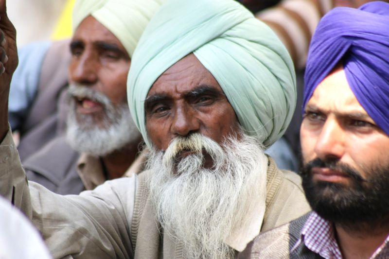 Farmers participate in a demonstration against the land acquisition bill at Jantar Mantar in New Delhi, on March 16, 2015.