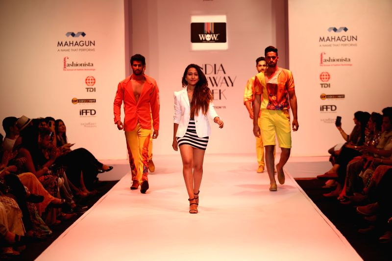 Fashion designer Rohini Gugnani during India Runway Week in New Delhi, on April 12, 2015.