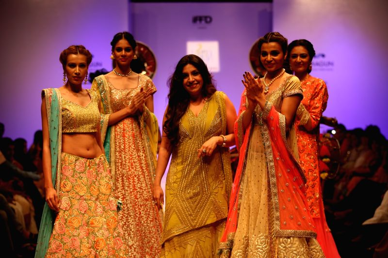 Fashion designer Varija Bajaj during India Runway Week in New Delhi, on April 12, 2015.