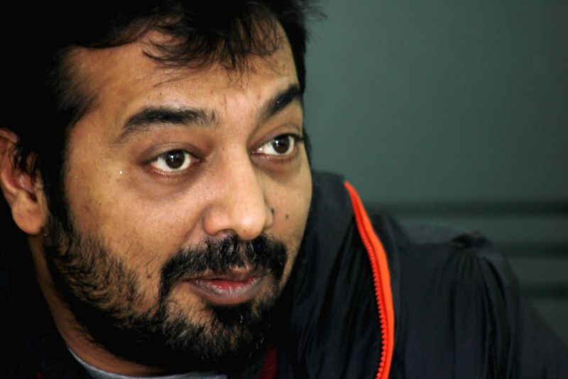 Filmmaker Anurag Kashyap during an interview at IANS office in New Delhi, on Dec 23, 2014.