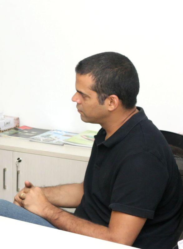 Filmmaker Vikramaditya Motwane during an interview at IANS office in New Delhi on March 16, 2015.