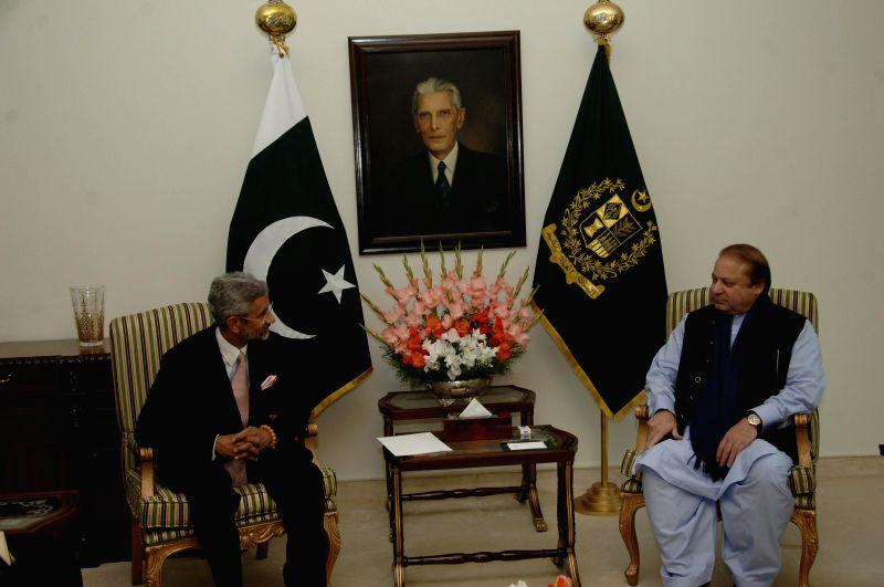 Foreign Secretary S Jaishankar calls on Prime Minister Muhammad Nawaz Sharif during his visit to Pakistan. - Muhammad Nawaz Sharif