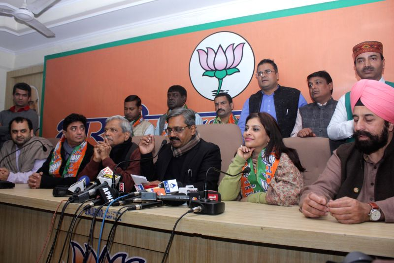 Former AAP leader, social activist and journalist Shazia Ilmi joins BJP in presence of Delhi in-charge of BJP Prabhat Jha, Delhi BJP chief Satish Upadhyay and others in New Delhi on Jan ... - Satish Upadhyay