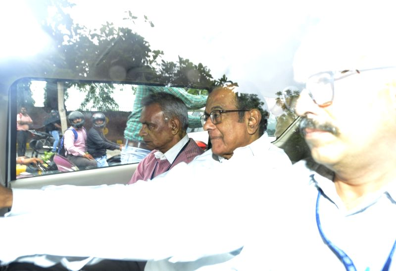 New Delhi: Former Finance Minister P. Chidambaram arrives at Delhi's Rouse Avenue Court after he was arrested by the CBI on Thursday in INX media case, in New Delhi on Aug 22, 2019.