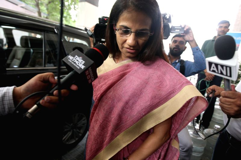 New Delhi: Former ICICI Bank chief Chanda Kochhar arrives to appear before the Enforcement Directorate (ED) for questioning in connection with the Videocon loan case, in New Delhi on May 13, 2019.