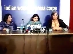 New Delhi: Former Jammu and Kashmir Chief Minister Mehbooba Mufti's daughter Iltija Mufti addresses a joint press conference at the Indian Women's Press Corps (IWPC) in New Delhi on Feb 18, 2020. (Photo: IANS)