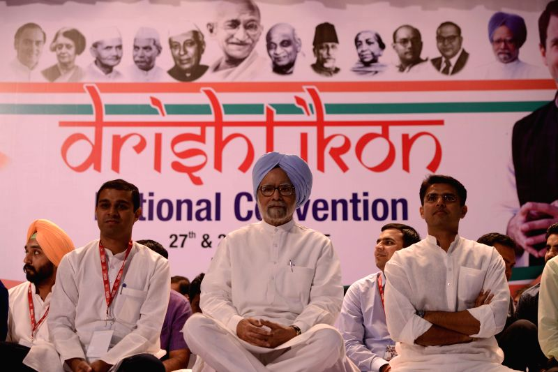 Former prime minister and Congress leader Manmohan Singh during `Drishtikon` - NSUI convention in New Delhi, on May 27, 2015.
