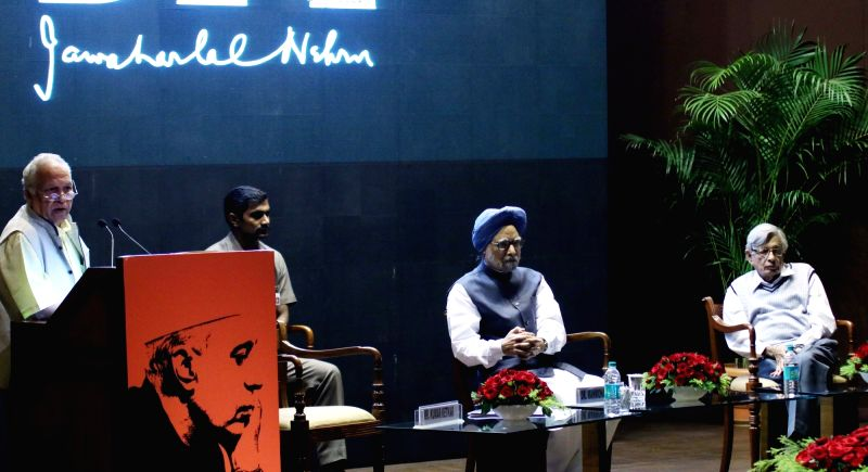 : New Delhi: Former Prime Minister Manmohan Singh during a programme organised to celebrate the birth annivrsary of Pt. Jawaharlal Nehru at Nehru Bhawan in New Delhi on Nov. 6, 2015. (Photo: IANS).