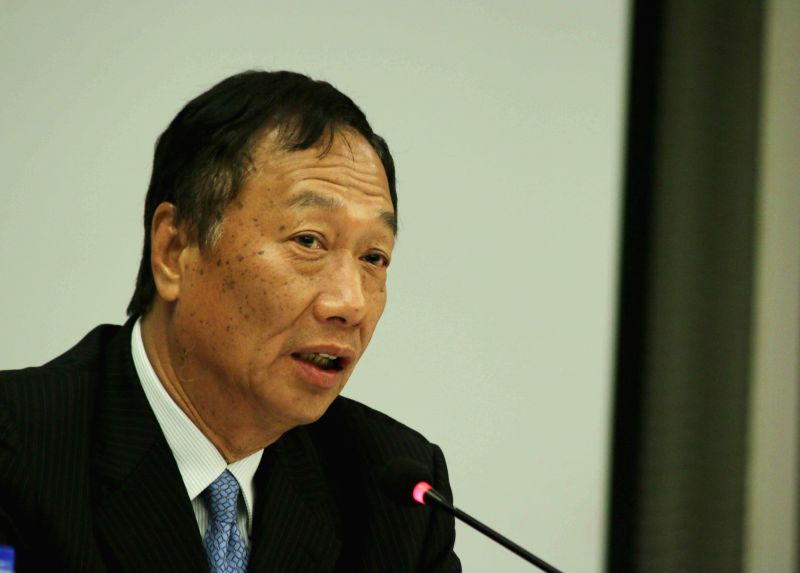 New Delhi: Foxconn chief executive Terry Gou during a press conference in New Delhi on Aug. 4, 2015. (Photo: IANS)
