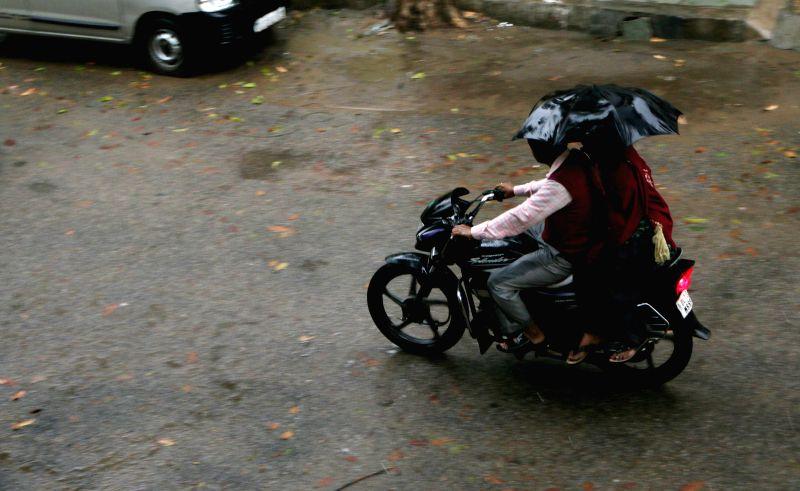 Heavy rains lash New Delhi, on March 2, 2015.
