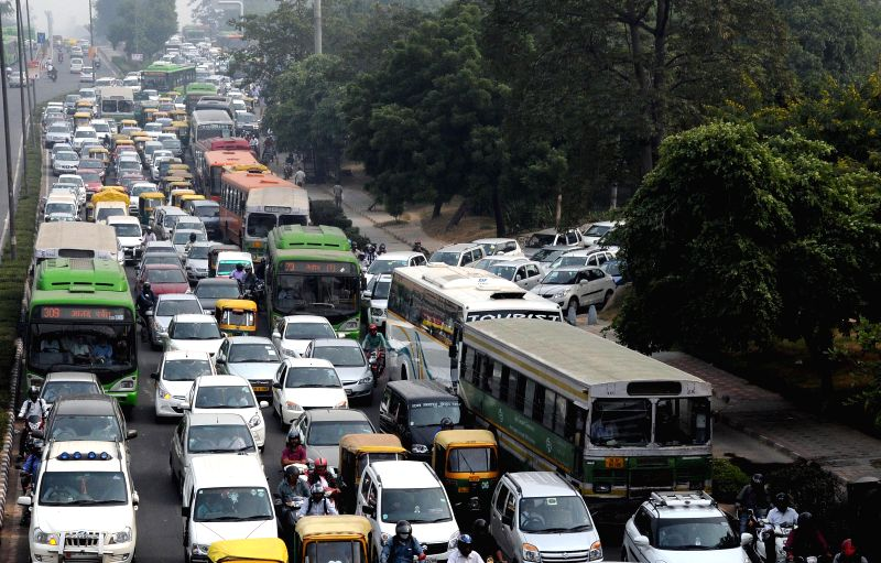 Traffic jam near ITO