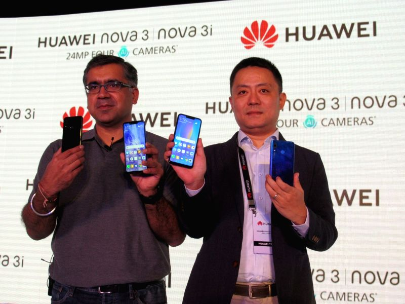 : New Delhi: HUAWEI India Consumer Business Group Product Centre Director Allen Wang at the launch of Nova 3 and Nova 3i smartphones, in New Delhi on July 26, 2018. Huawei Consumer Business Group ...