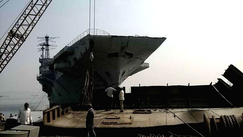 India's first aircraft carrier INS Vikrant, now decommissioned but which saw action during the 1971 Indo-Pakistan war, is finally being broken up in Mumbai on Nov 21, 2014. The process is .