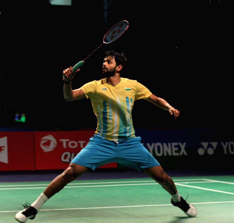 New Delhi: India's Sai Praneeth in action against India's Sameer Verma during Yonex-Sunrise India Open 2019 in New Delhi on March 28, 2019. (Photo: IANS)