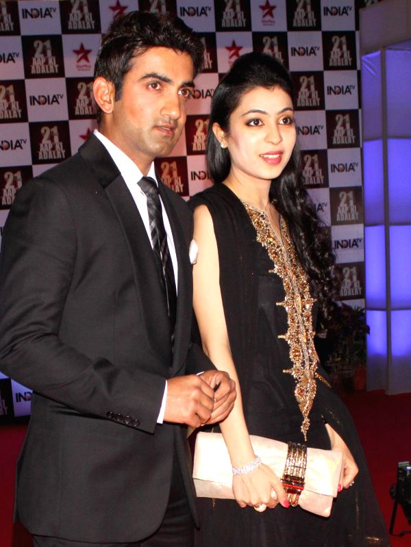 Indian cricketer Gautam Gambhir during a programme organised to celebrate 21 years of a `Aap Ki Adalat` a TV show at Pragati Maidan in New Delhi on Dec 2, 2014.