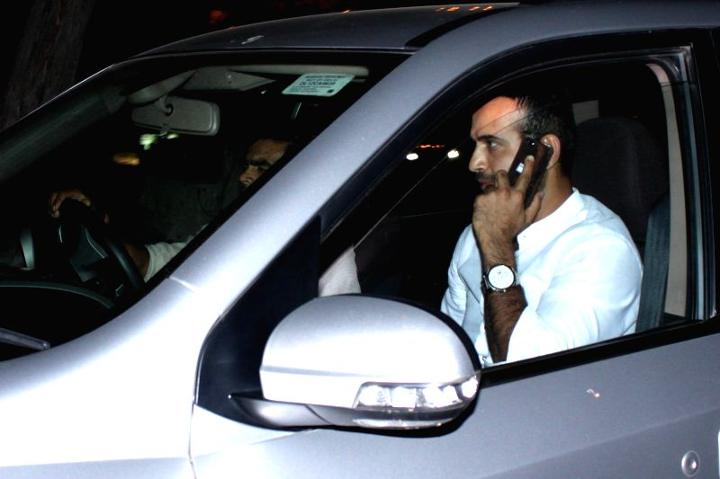Indian cricketer Irfan Pathan  arrives to attend the marriage ceremony of cricketer Suresh Raina in New Delhi on April 3, 2015.