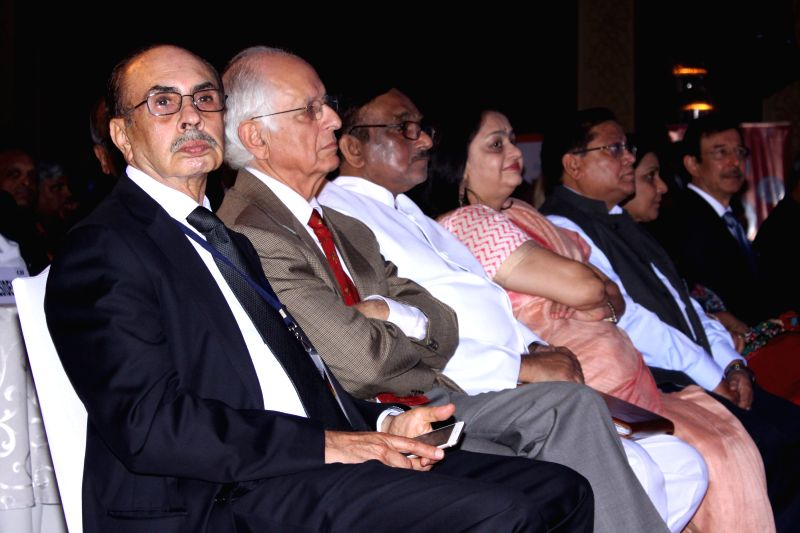 New Delhi:Industrialist Adi Godrej and others at CII's Annual Session -` Building India : A Shared Responsibility` in New Delhi, on April 6, 2015.