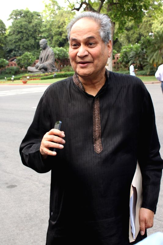 Industrialist and MP Rahul Bajaj at the Parliament house in New Delhi, on April 27, 2015.
