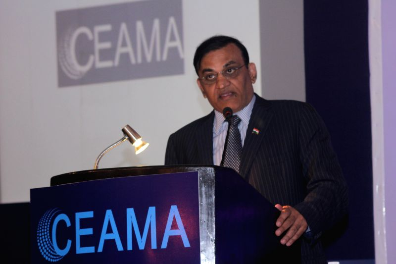 Industrialist and Rajya Sabha Member Rajkumar Dhoot addresses during the 35th Annual function of CEMA (Consumer Electronics & Appliances Manufacturers Association) in New Delhi on Dec .