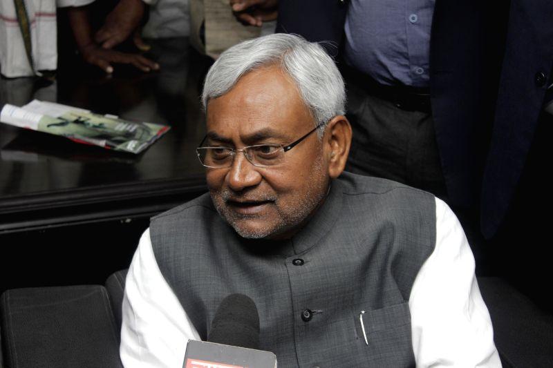 Janata Dal (United) leader and former Bihar chief minister Nitish Kumar at Bihar Bhavan in New Delhi on Feb 11, 2015.