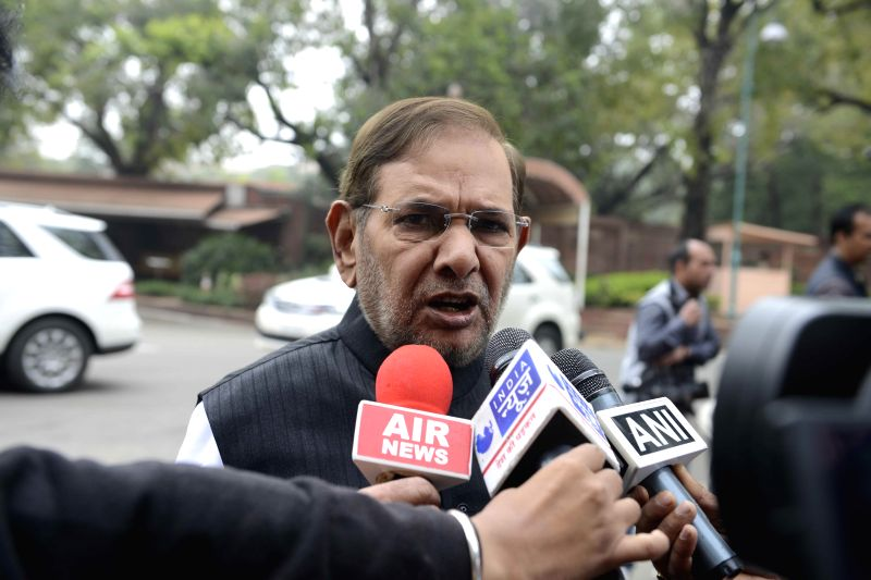 JD(U) chief Sharad Yadav at the Parliament in New Delhi, on March 3, 2015. - Sharad Yadav