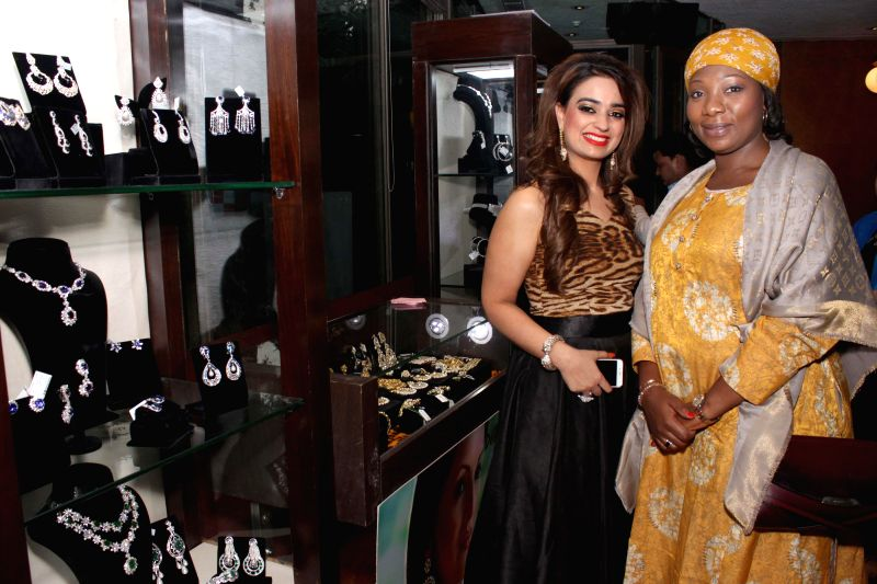 Jewellery designer Chitwan Malhotra during the launch of her jewellery collection in New Delhi on Dec 9, 2014.