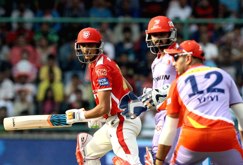 New Delhi:Kings XI Punjab batsman Axar Patel in action during an IPL 2015 match between Delhi Daredevils and Kings XI Punjab at the Feroz Shah Kotla stadium in New Delhi, on May 1, 2015. - Axar Patel and Feroz Shah Kotla