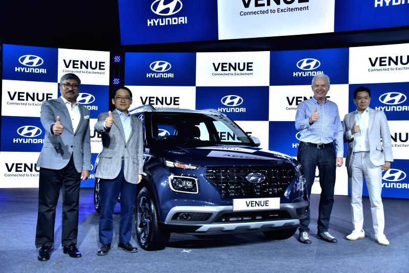 Hyundai Motor India Limited National Sales Head Vikas Jain, MD and CEO S. S. Kim, Hyundai Global President and Head (R&D Division) Albert Biermann, Design Centre Senior Vice President S.Y.