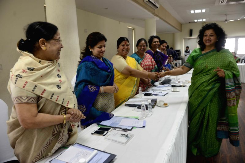 Mahila Congress chief Shobha Ojha during National Council meeting of All India Mahila Congress at the party headquarters in New Delhi, on March 13, 2015.