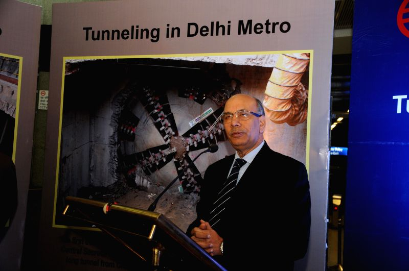 Managing Director of Delhi Metro Rail Corporation (DMRC), Mangu Singh during a programme organised to unveil a replica of Tunnel Boring machine at Metro Museum in Patel Chowk Metro station - Mangu Singh