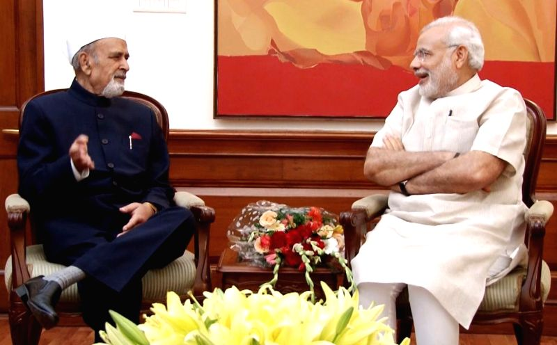 Manipur Governor Dr. Syed Ahmed calls on the Prime Minister Narendra Modi, in New Delhi on May 28, 2015. - Narendra Modi