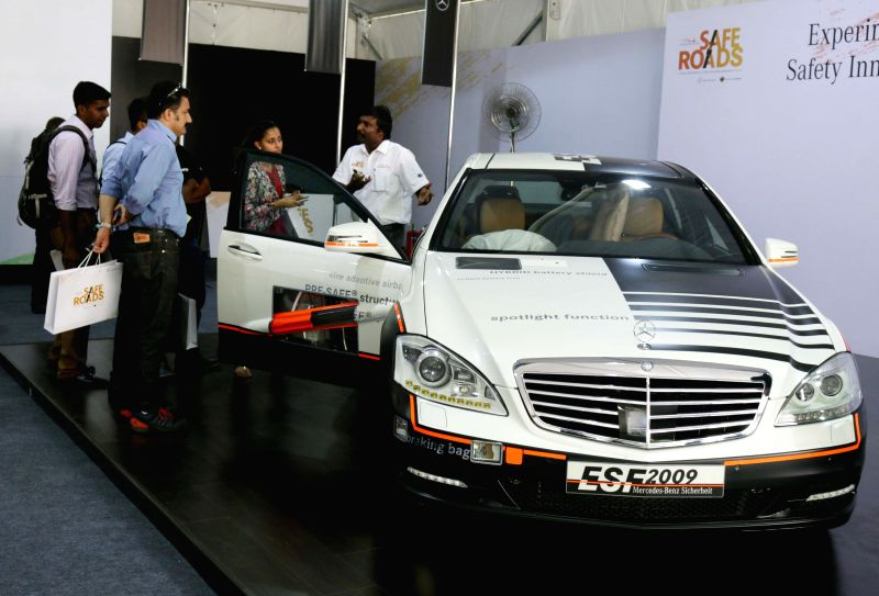 Mercedes Benz launches Safe Road Project - a CSR initiative to promote road safety in India at Paragati Maidan in New Delhi on April 29, 2015.