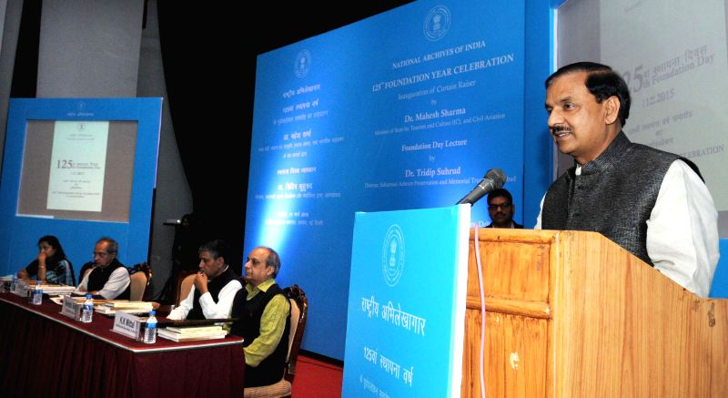 Minister of State for Culture (Independent Charge), Tourism (Independent Charge) and Civil Aviation, Dr. Mahesh Sharma addresses at the inauguration of the curtain raiser of yearlong ... - Ravindra Singh