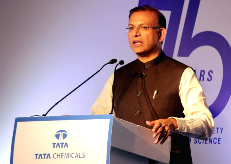 Minister of State for Finance Jayant Sinha addresses at the launch of book `Salt of the Earth` by Tata Chemicals Limited, in New Delhi on Jan. 7, 2014. - Jayant Sinha