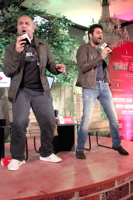 Music directors Vishal Dadlani and Shekhar Ravjiani at the `Agenda Aaj Tak` in New Delhi on Dec.13, 2014.