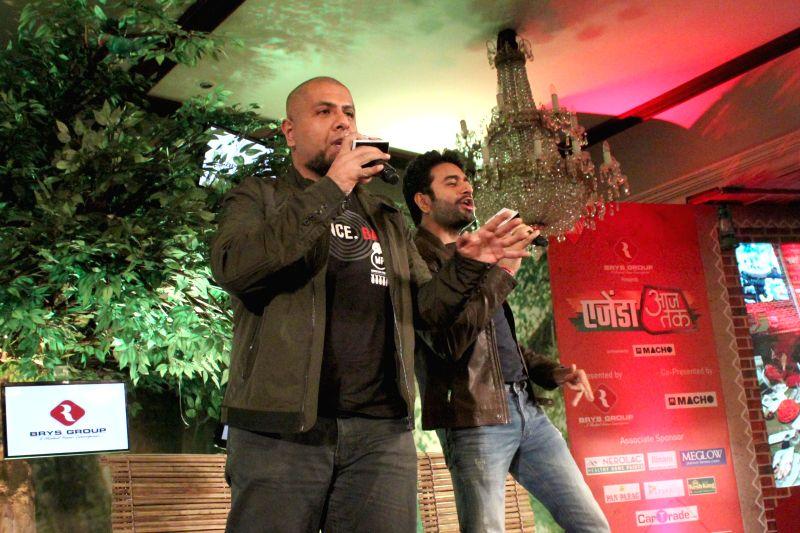 Music directors Vishal Dadlani and Shekhar Ravjiani at the `Agenda Aaj Tak` in New Delhi on Dec.13, 2014.