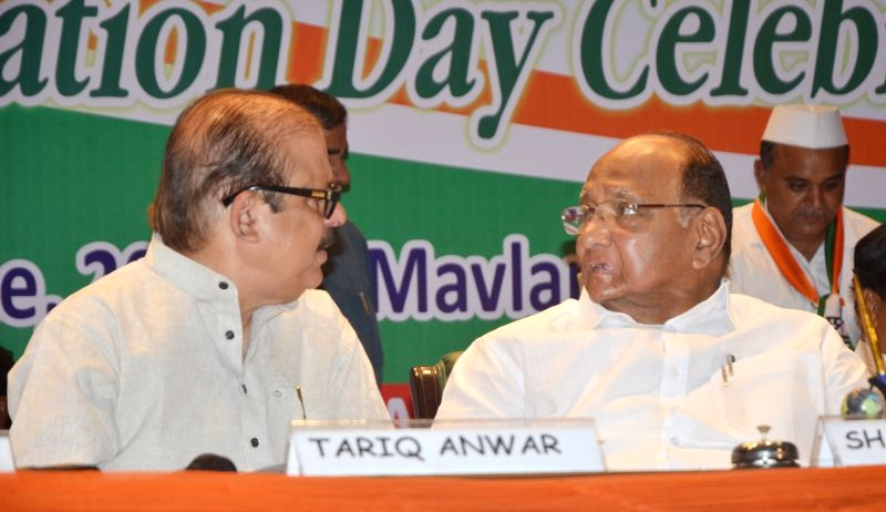 New Delhi:NCP chief Sharad Pawar during NCP foundation day programme in New Delhi on June 10, 2017.