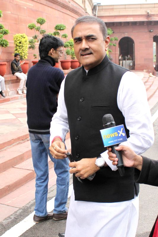 NCP MP Praful Patel at the Parliament in New Delhi, on March 3, 2015. - Praful Patel