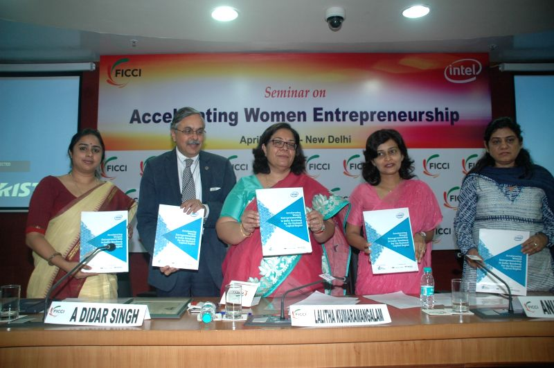 NCW chairperson Lalitha Kumaramangalam during a seminar on `Accelerating Women Entrepreneurship` organised by FICCI in New Delhi, on April 1, 2015.