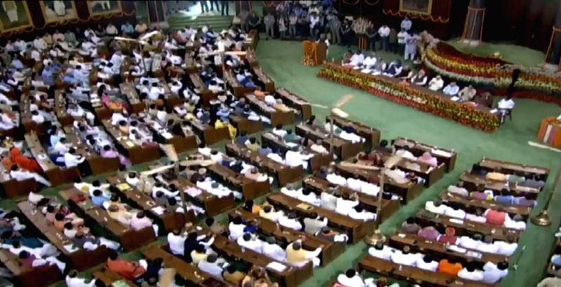 New Delhi: NDA Parliamentary Board meeting underway at Central Hall of Parliament, in New Delhi on May 25, 2019. (Photo: IANS)