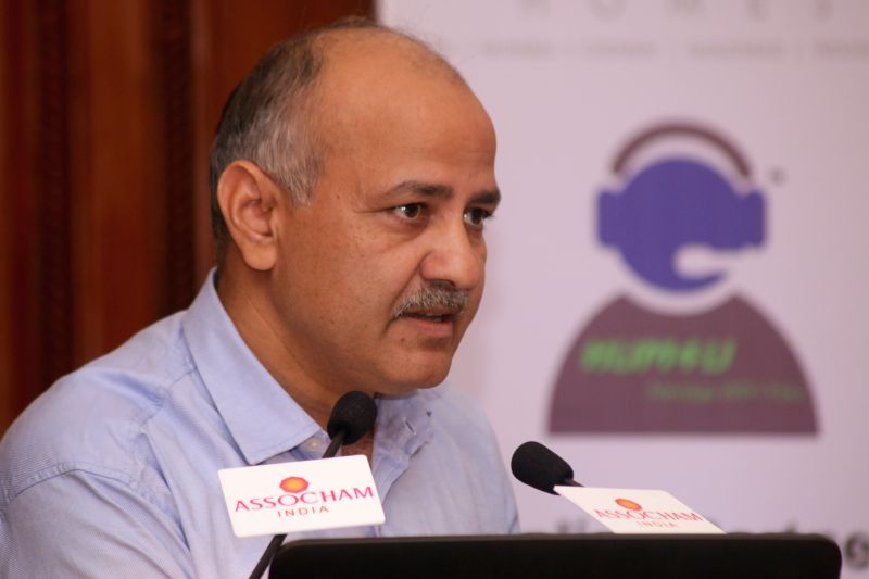 New Delhi: Deputy Chief Minister of Delhi, Manish Sisodia at Assocham`s national conference on innovation to make city financially sustainable at in New Delhi on April 14, 2015.