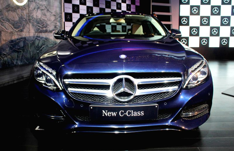 Newly launched Mercedes Benz C-class in New Delhi, on Nov 25, 2014.