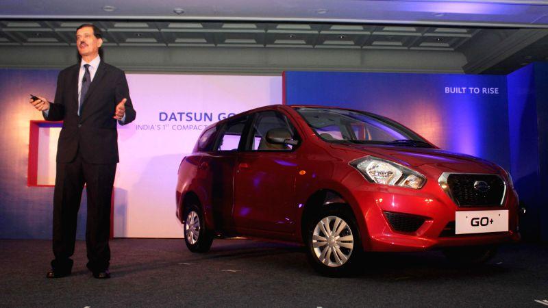 Nissan Motor India Pvt Ltd MD Arun Malhotra at the launch of Datsun Go+ in New Delhi, on Jan 16, 2015. - Arun Malhotra