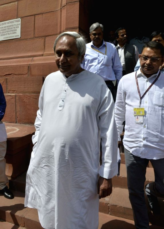 : New Delhi: Odisha Chief Minister Naveen Patnaik at Parliament in New Delhi on Feb 15, 2017. .