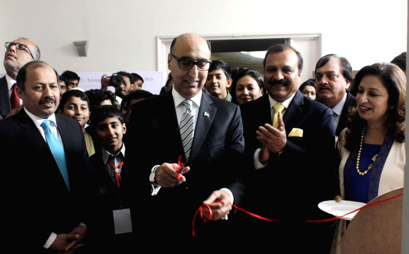 Pakistan High Commissioner to India Abdul Basit at the inauguration of a programme organised at the Pakistan High Commission in New Delhi, on Feb 12, 2015.